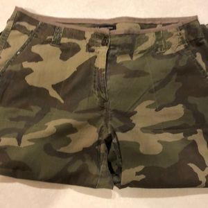 Camo rollup pants size 14